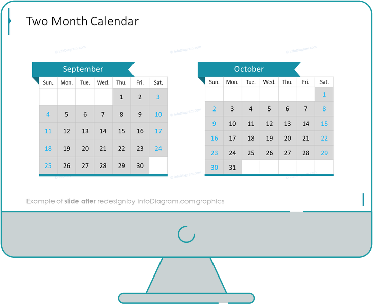 calendars us two month after redesign