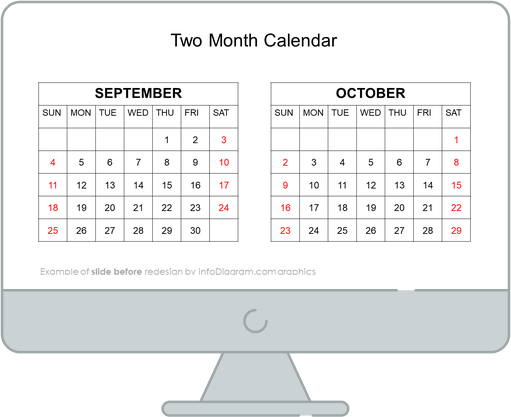 calendars us two month before redesign