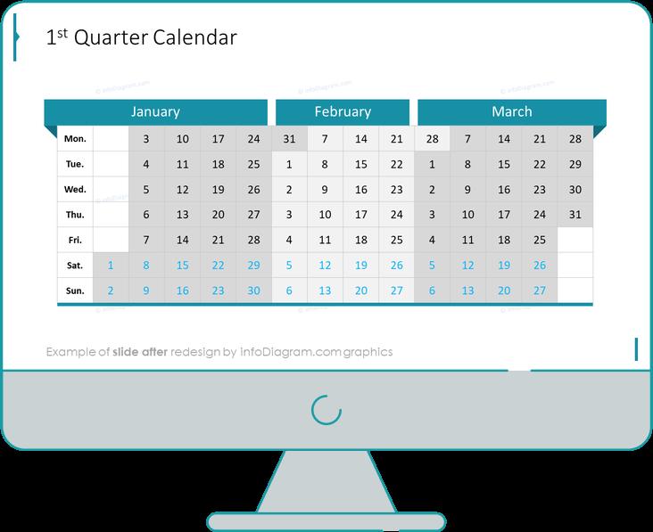 calendars eu first quarter after redesign