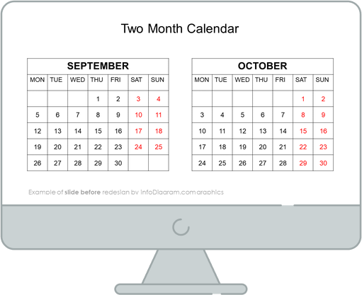 calendars eu two month before redesign