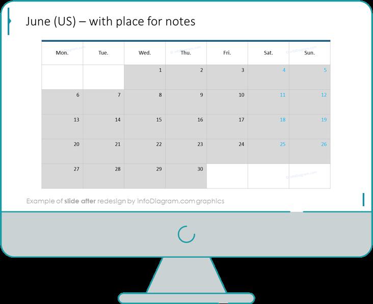 calendars eu month after redesign