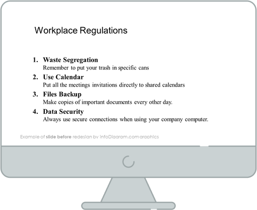 before redesign work place rules traffic sign ppt graphics
