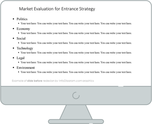 Go To Market Strategy PPT slide before redesign