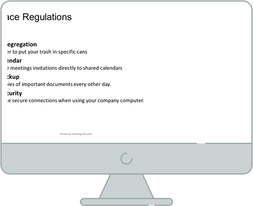 before text work place rules slide ppt