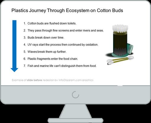 Plastic Journey Through Ecosystem slide before redesign