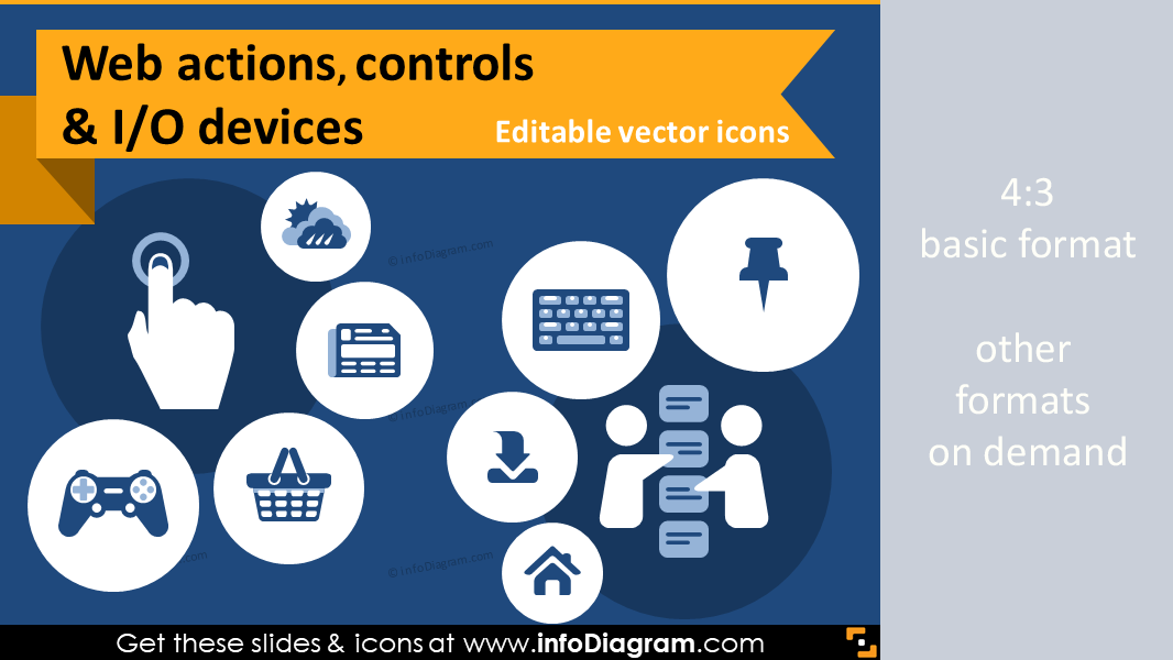 It Icons Website Actions Content Navigation Controls Ppt
