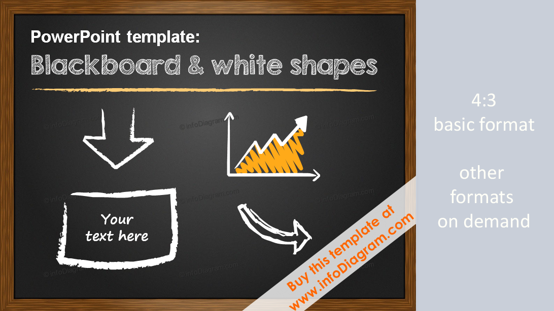 Minimalistic Pptx Template 5 Slide Layouts Blackboard White Shapes