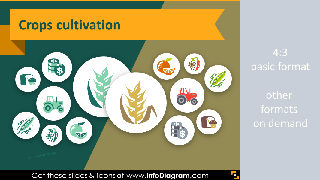 44 Agriculture Icons Farming Crop Ppt Presentation Infographics
