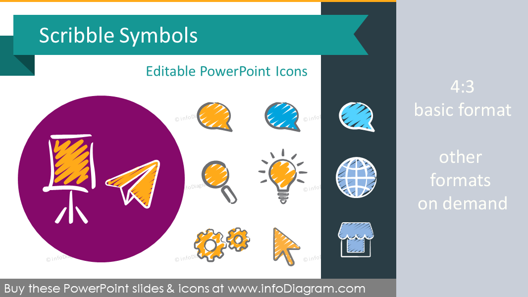 Handwritten symbols scribble PowerPoint