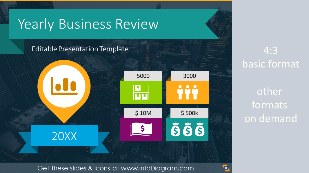 22 Icons 12 Diagrams to Boost Yearly Business Presentation – Business Review Template