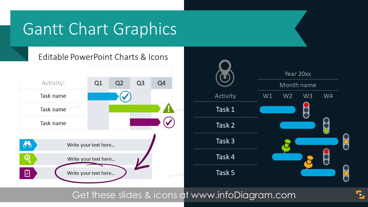 15 creative gantt chart powerpoint tables template for