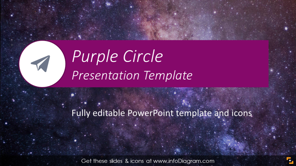 Elegant Purple Powerpoint Template Flat Slide Deck