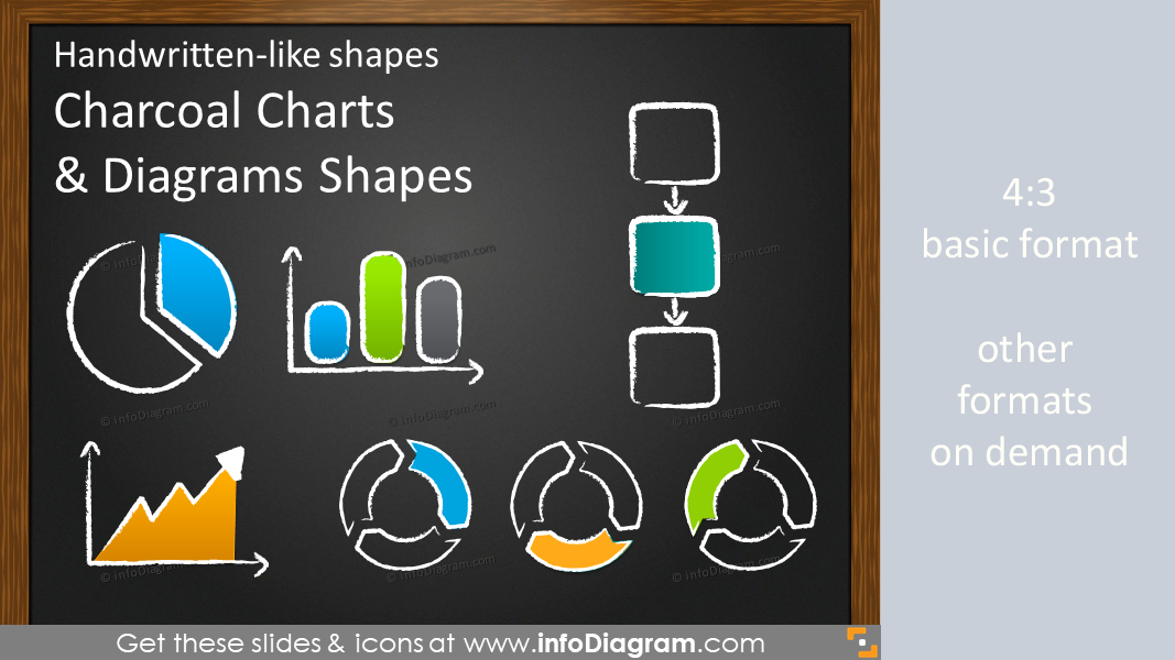 Charcoal Handwritten Charts (PPT icons)