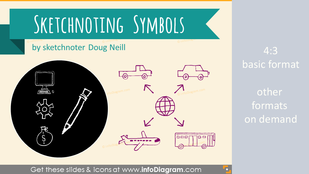 sketchnoting doodle symbols powerpoint icons visual notetaking