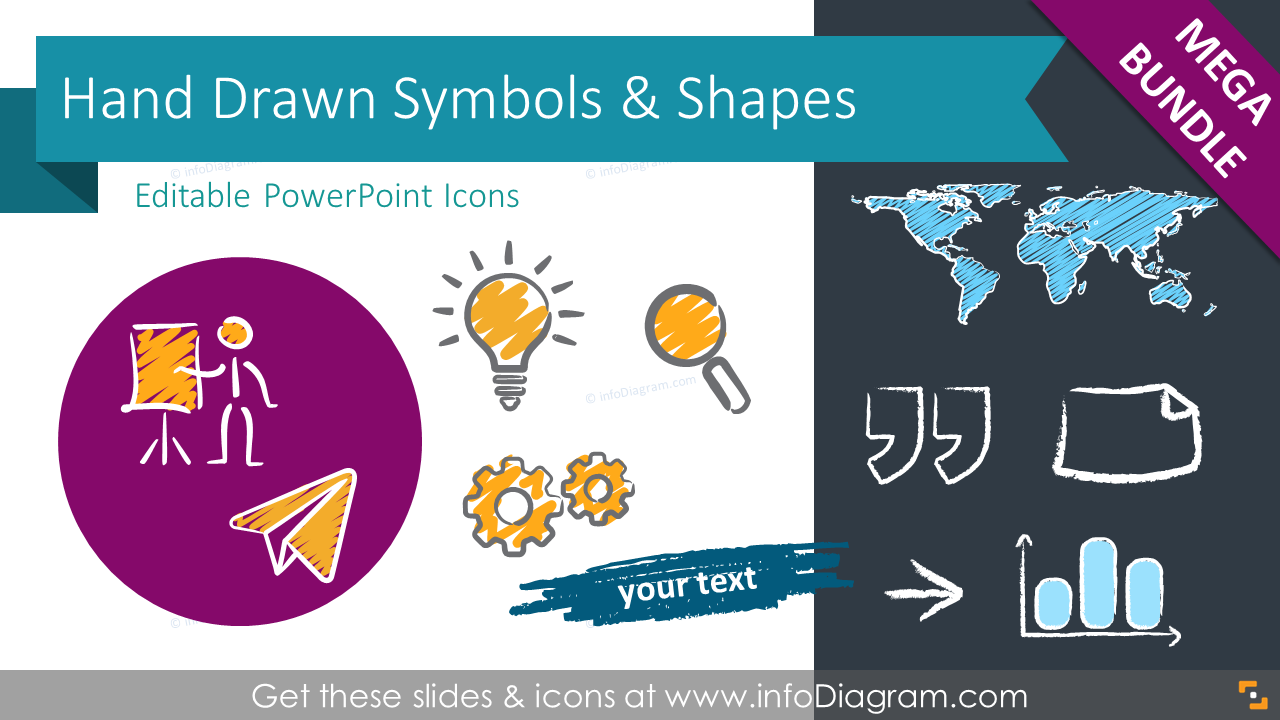 All Handwritten Symbols and Shapes, Mega-Bundle (PPT icons)