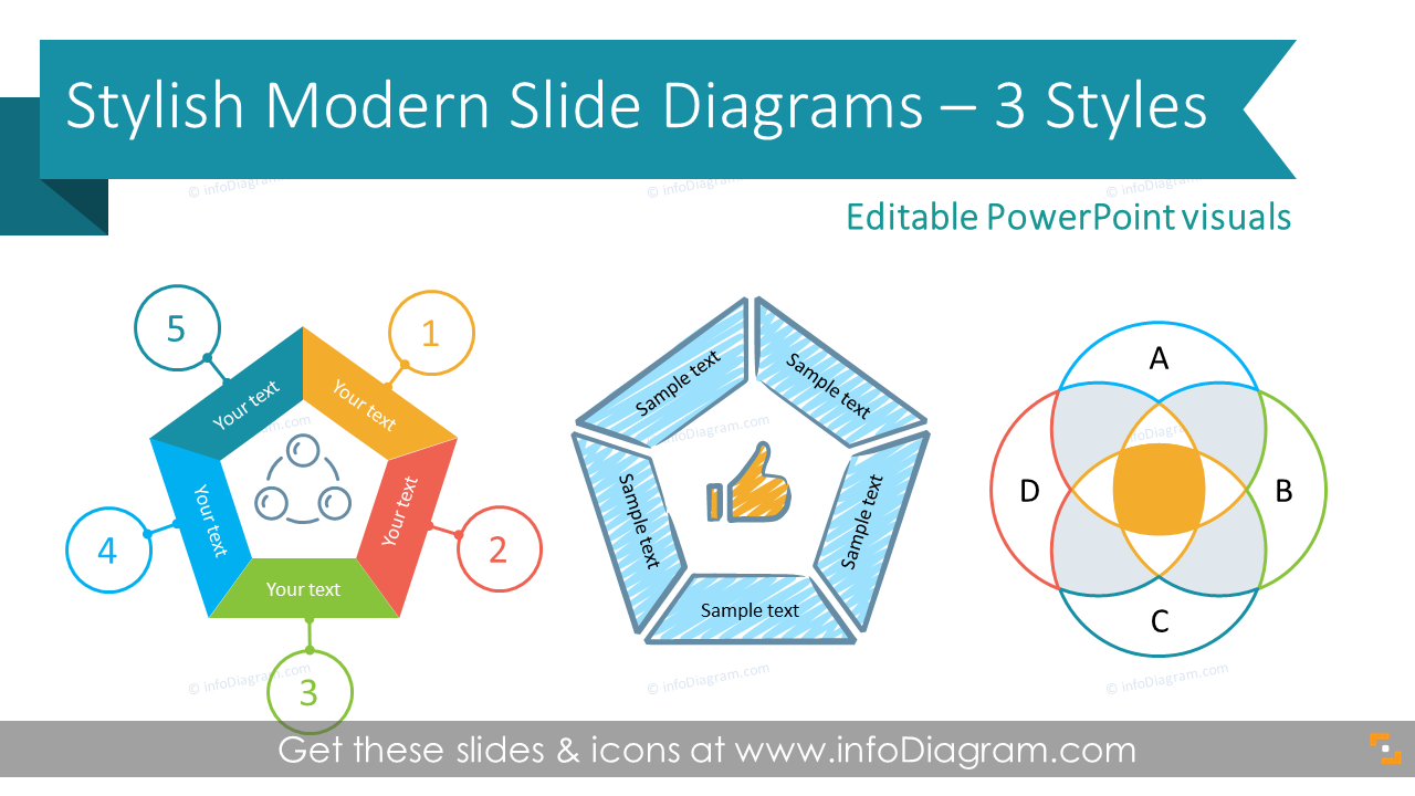 Free Infographics Ppt Slides Diagrams Icons Powerpoint Scribble Flat