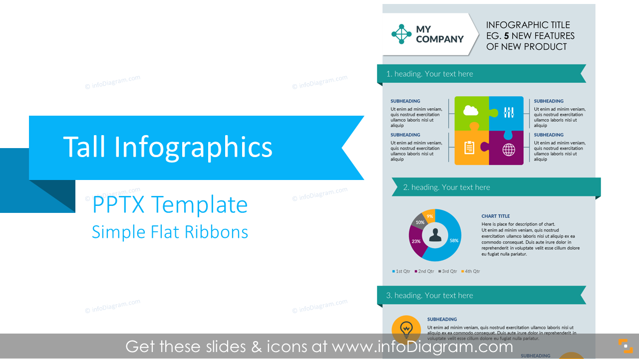Simple flat design powerpoint templates tall infographics presentation template flat ppt graphics toneelgroepblik Gallery