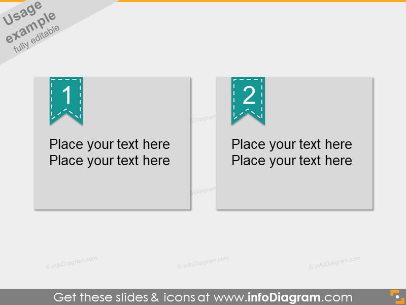 Numbering Ribbon Slide Infographics PowerPoint shape
