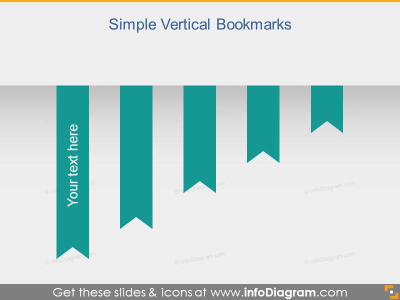 Vertical Ribbon Bookmark Metro Banner pptx
