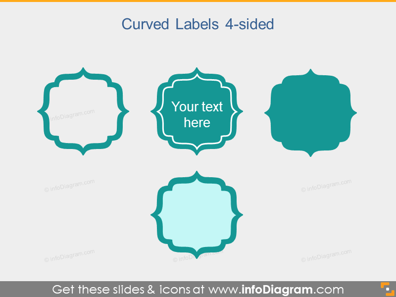 Curved Flat Labels Banners Metro Slide Header pptx