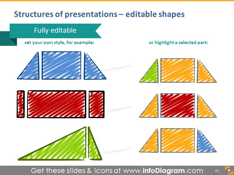 presentation structures illustration shapes editable training visualizatio…