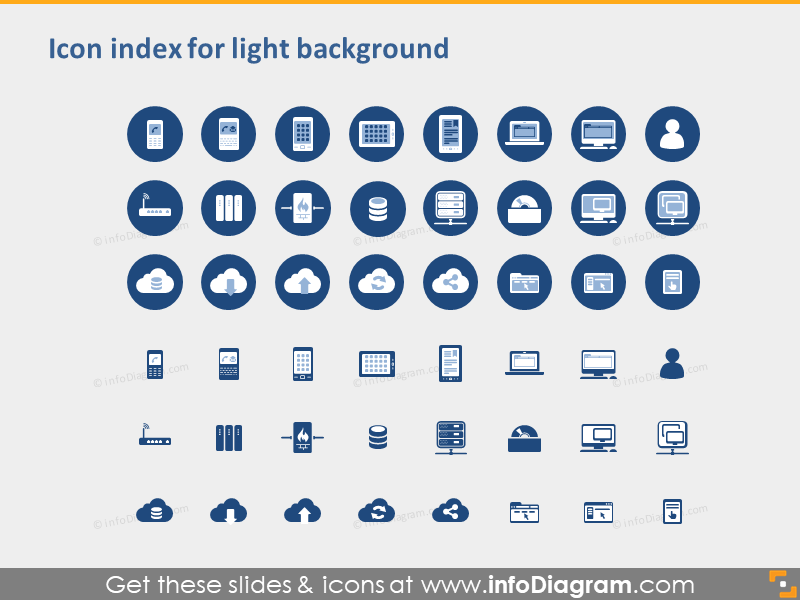 Great 24 icons in 15 Slides - Cloud, Software, Mobile and Network
