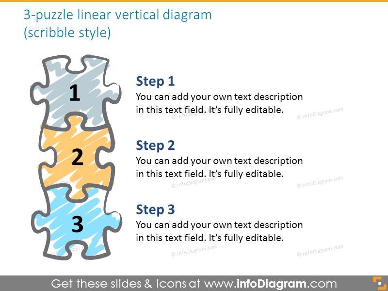 puzzle horizontal diagram professional powerpoint clipart