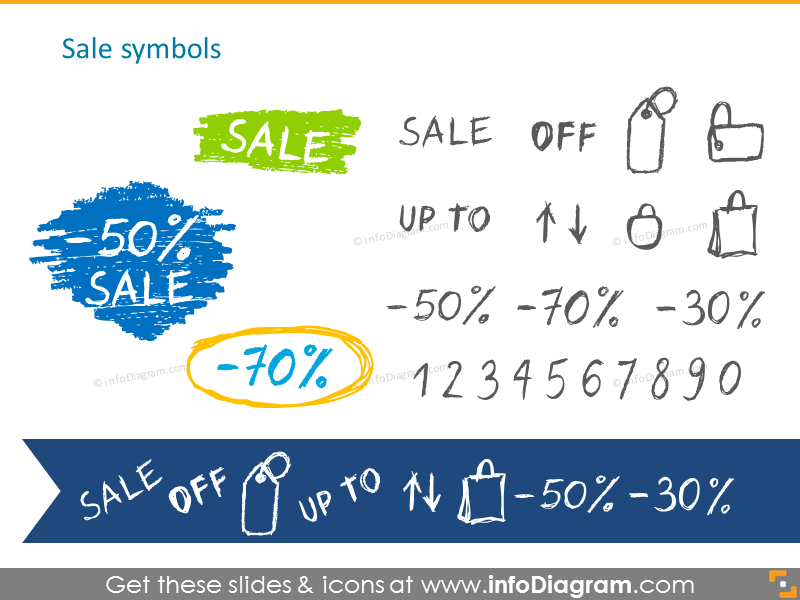 Pencil handdrawn sale symbols