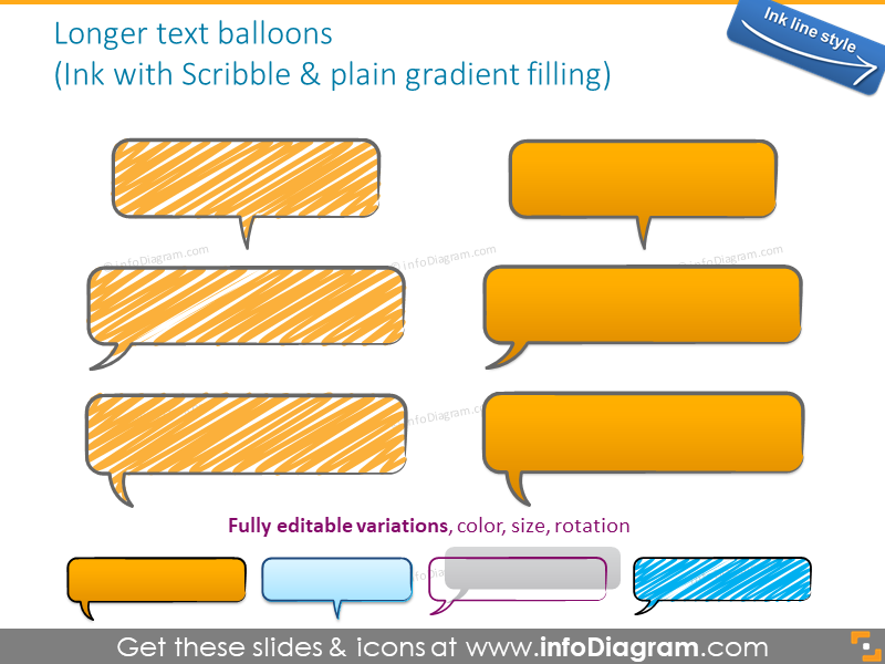 speech bubble handdrawn scribbled ink shape text field powerpoint