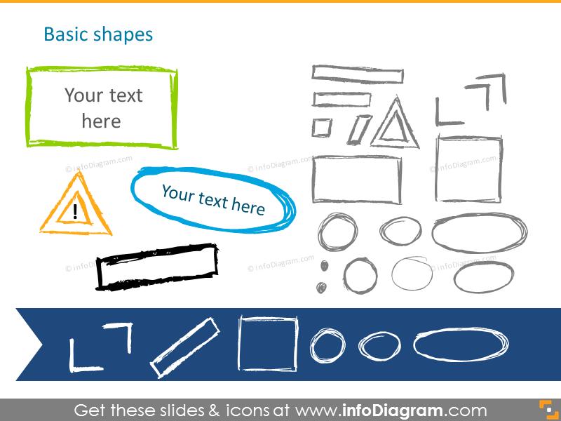 Pencil handdrawnbasic shapes