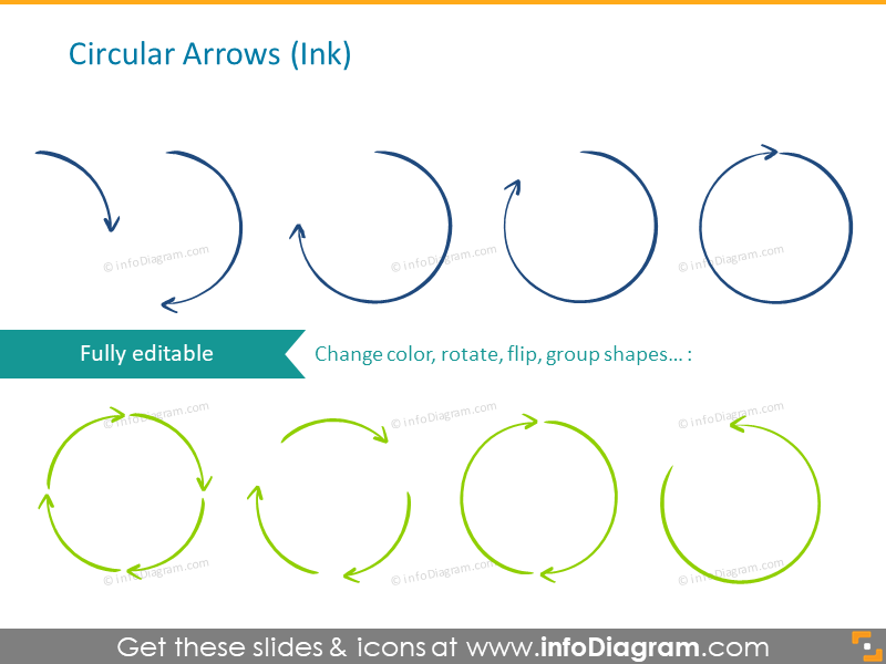 Extensive 251 Editable Hand-drawn Arrows Icon Set for ...