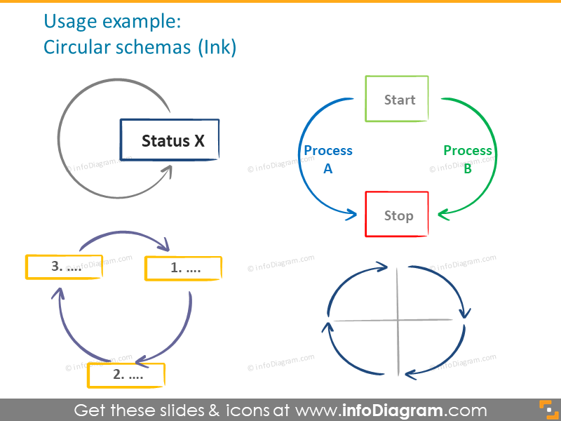 flow-diagram-handdrawn-arrows-sketched-shapes-ppt-icon