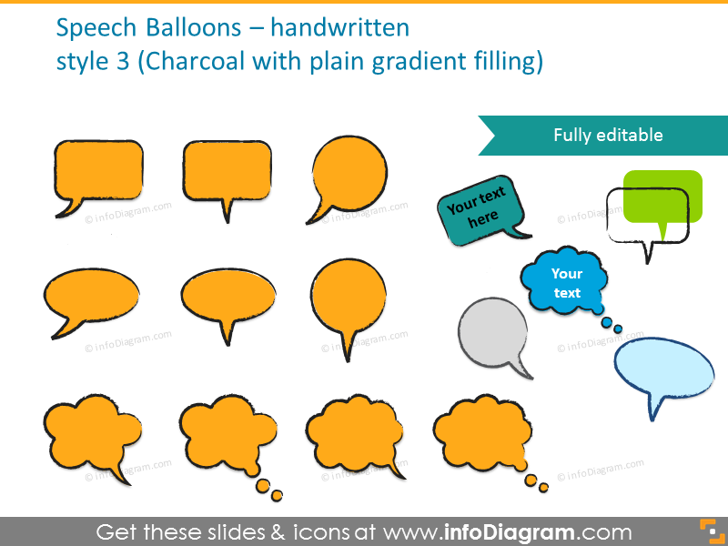 All Handwrittten speech balloons 152