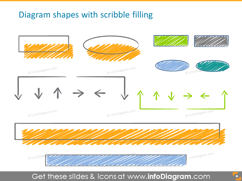Diagram shapes with scribble filling