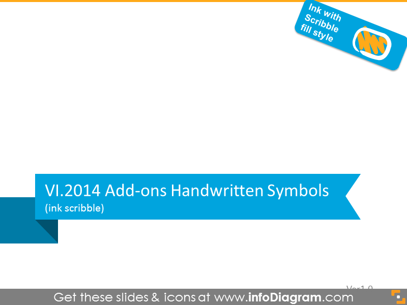 New Handwritten Symbols Scribble PowerPoint icons