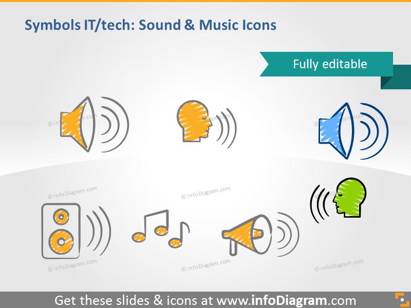 music sound speaker note sketch doodle clip art