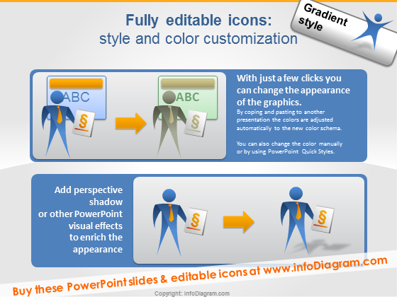 editable people vector clipart powerpoint icons