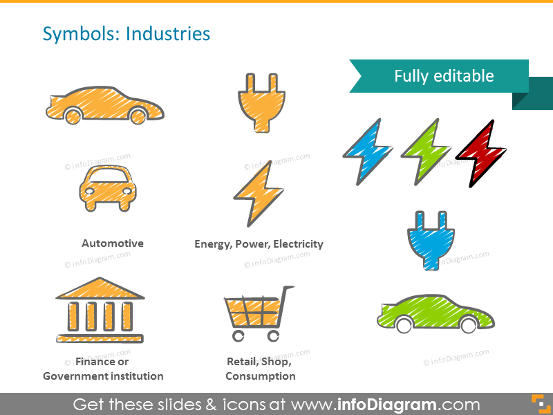 scribble-industry-ppt-symbols-car-energy-retail-bank pptx icon