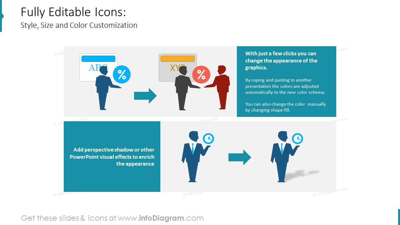 Company Structure People Silhouettes editable PPT icons