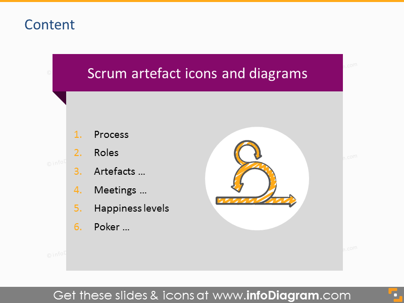 scrum process roles diagram toolbox powerpoint icons agile sprint. Black Bedroom Furniture Sets. Home Design Ideas