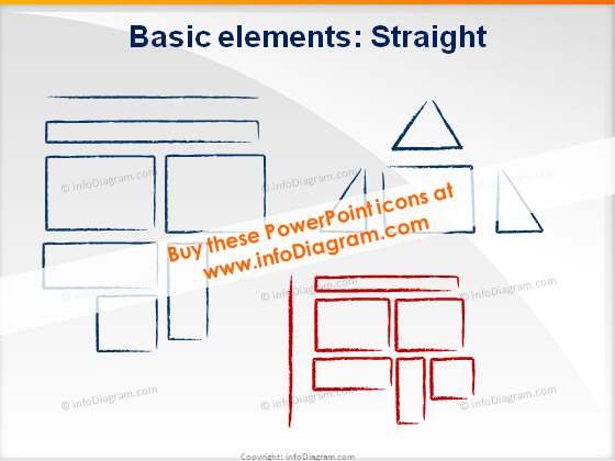 Shapes triangle rectangle icons ppt clipart charcoal