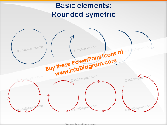 Shapes rounded symmetric icons ppt clipart charcoal