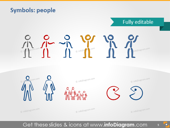 Symbols people icons ppt clipart