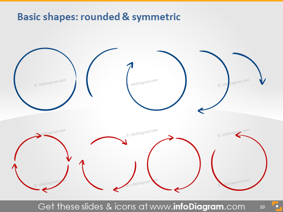Shapes rounded symmetric icons ppt clipart image