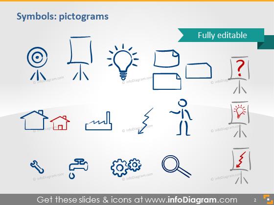 symbols pictograms idea house icons ppt clipart