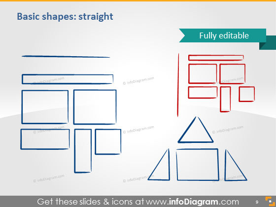 Shapes triangle rectangle icons ppt clipart image