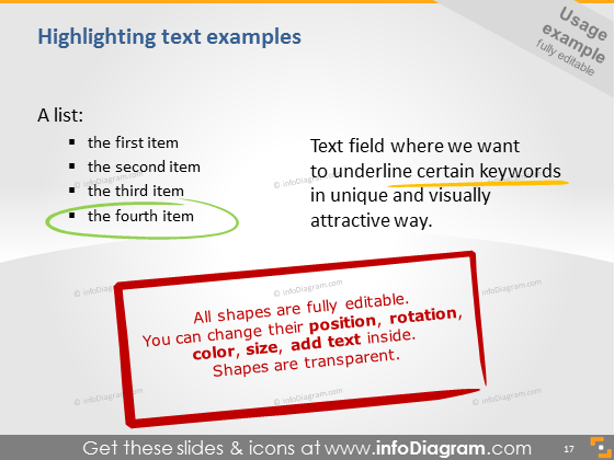 highlighting text icons ppt clipart image