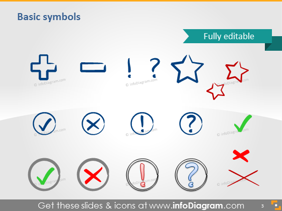 Symbols star question icons ppt clipart