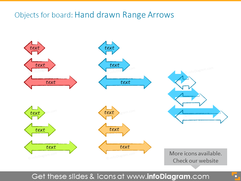 kanban-board-range-arrow-icons-ppt-clipart