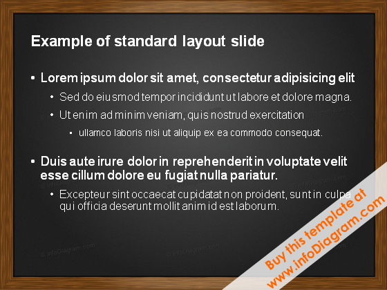 White text on Black background PowerPoint